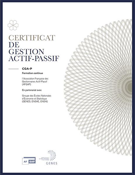 Certificat de Gestion Actif-Passif